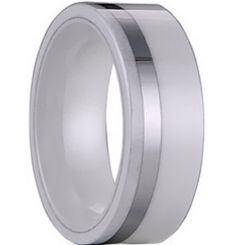 COI Titanium Ring With Ceramic - 1145(Size US5/7)