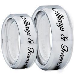 COI Titanium Always & Forever Beveled Edges Ring-1307