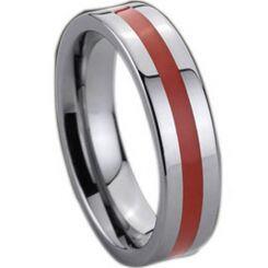 COI Titanium Ring With Ceramic-137(US7.5)