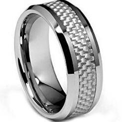 COI Titanium Ring With Carbon Fiber-1383(Size US8)