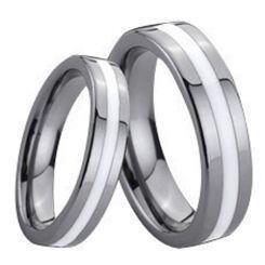 COI Titanium Ring With Ceramic - 138(Size US7/10.5)