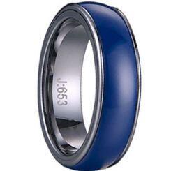 COI Titanium Ring With Blue Ceramic - 1421(Size:US10)
