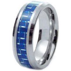 COI Titanium Ring With Carbon Fiber-1440(Size US9)