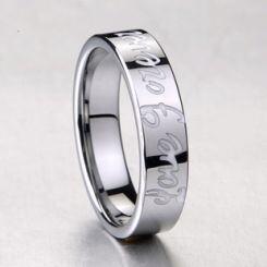 COI Titanium Ring With Ceramic-1589(#Size 6/7/12.5)