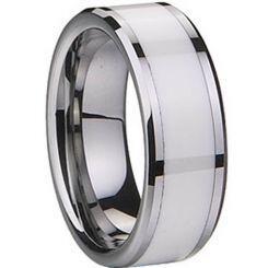 COI Titanium Ring With Ceramic - 1836(Size:6/11.5/15.5)
