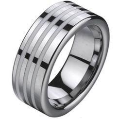 COI Titanium Ring With Ceramic - 2102A(Size:#US6)