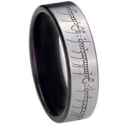 *COI Titanium Lord Of The Ring Pipe Cut Flat Ring-2213