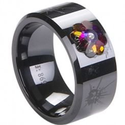 COI Black Titanium Ring - 2257(Size:#US6.5)
