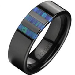 COI Titanium Ring With Abalone Shell - 2338(#US6)