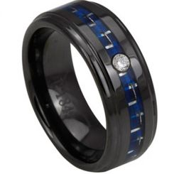 COI Black Titanium Carbon Fiber Ring - 2791(Size:#US6)