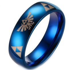 *COI Titanium Legend of Zelda Dome Court Ring - 3229