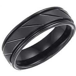 COI Black Titanium Ring - 3345(Size:US6)