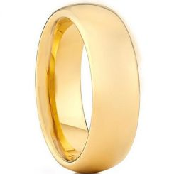 **COI Gold Tone Titanium Dome Court Ring - JT4048