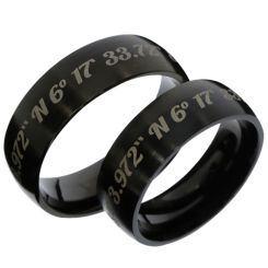 COI Black Titanium Custom Coordinate Dome Court Ring - 3486