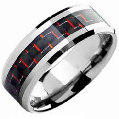 COI Titanium Ring With Carbon Fiber - 3699(Size US11)