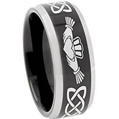 *COI Titanium Mo Anam Cara Celtic Beveled Edges Ring - 374AA