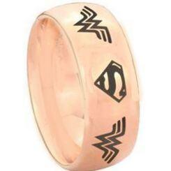 *COI Titanium Wonder Woman Superman Dome Court Ring - 3893