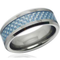 COI Titanium Ring With Carbon Fiber-4311(Size US11)
