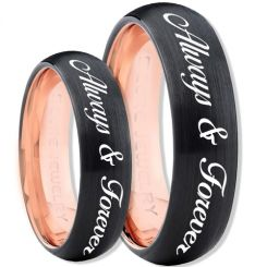 COI Titanium Black Rose Always & Forever Ring-4396