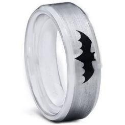 **COI Titanium Batman Beveled Edges Ring - 5001