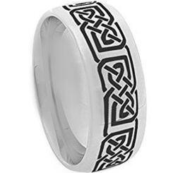 COI Titanium Celtic Dome Court Ring - 873AA