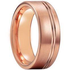 COI Rose Titanium Offset Groove Pipe Cut Flat Ring-5210