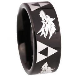 COI Black Titanium Legend of Zelda Wolf Ring-5211