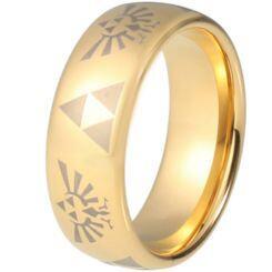 COI Gold Tone Titanium Legend of Zelda Dome Ring-5216