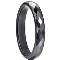 COI Black Titanium Faceted Ring-5264