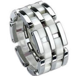 COI Titanium Ring With Ceramic-638(Size:US7/8.5)
