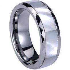 COI Titanium Ring With Abalone Shell - 824(Size:US13)