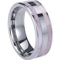COI Titanium Ring With Abalone Shell - 830(Size:US5)