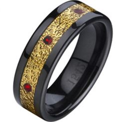 COI Black Titanium Ring - 874A(Size:US10.5)