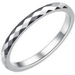 COI Titanium Faceted Wedding Band Ring - JT3846