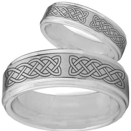 COI Titanium Celtic Step Edges Ring - 2760