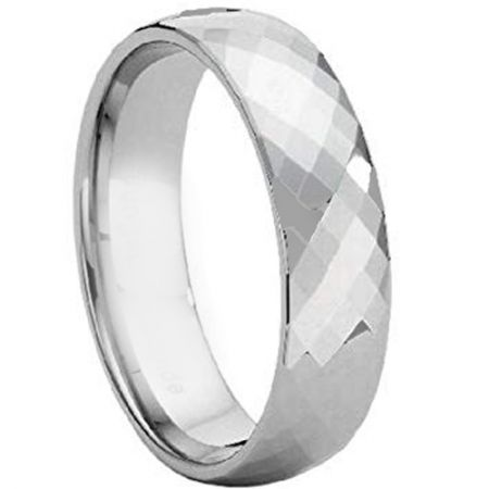 COI Titanium Faceted Wedding Band Ring - JT4108