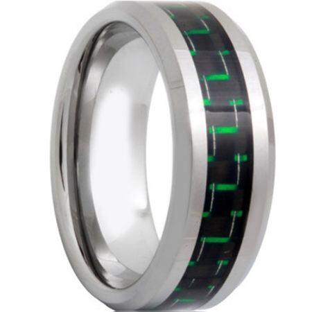 COI Titanium Beveled Edges Ring With Carbon Fiber - 571