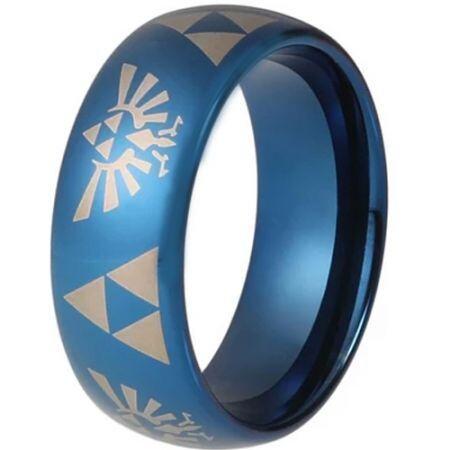 COI Blue Titanium Legend of Zelda Dome Court Ring - 4687
