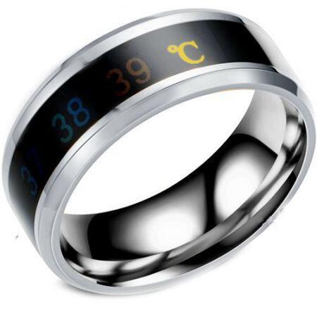 COI Titanium Body Temperature Sensing Beveled Edges Ring-5425
