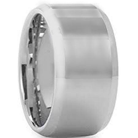 COI Titanium 12mm Beveled Edges Ring-5430