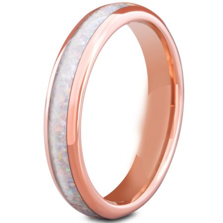 COI Rose Titanium Crushed Opal Dome Court Ring-5668