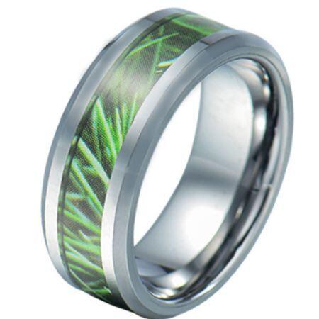 COI Titanium Camo Beveled Edges Ring-JT5784