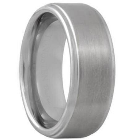COI Titanium Step Edges Wedding Band Ring - JT055A