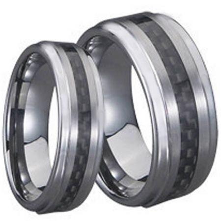 COI Titanium Step Edges Ring With Carbon Fiber - JT2677A