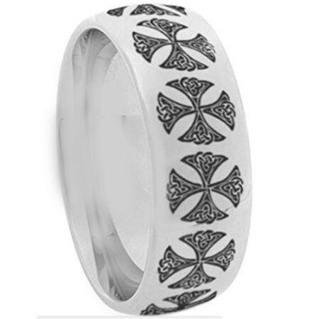 COI Titanium Cross Dome Court Ring - 1289