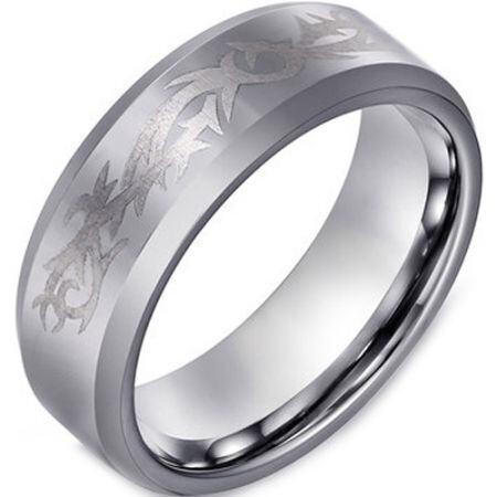 COI Titanium Celtic Beveled Edges Ring - JT3158