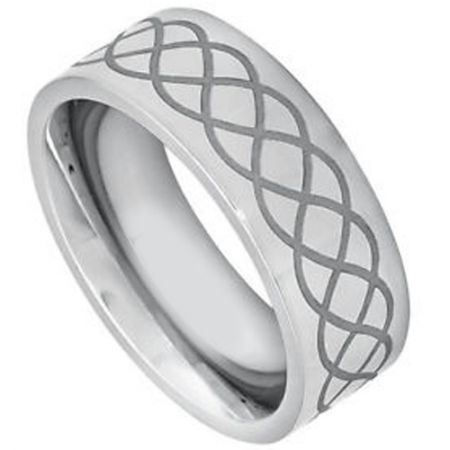 COI Titanium Celtic Pipe Cut Flat Ring-JT5089