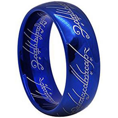 *COI Blue Titanium Lord Of The Ring Dome Court Ring-JT1796AA