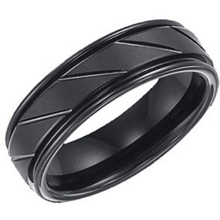 COI Black Titanium Ring - 3345(Size:US6)