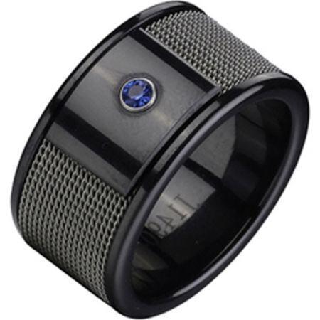 COI Black Titanium Ring-355A(US8.5)